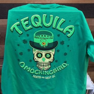 green st patricks day skull Tequila Mockingbird shirt